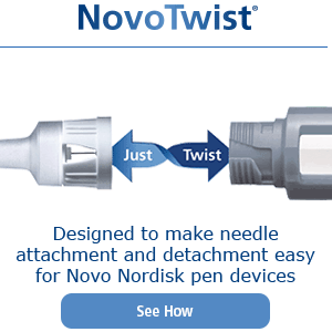 Designed to make needle attachment and detachment easy for Novo Nordisk pen devices